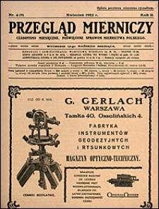 Przegląd Mierniczy 1925 nr 4