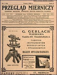 Przegląd Mierniczy 1925 nr 7