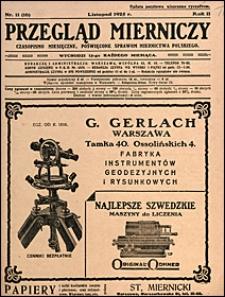 Przegląd Mierniczy 1925 nr 11