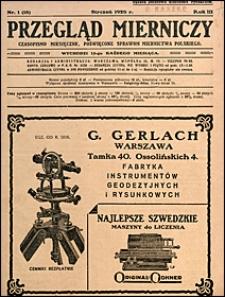 Przegląd Mierniczy 1926 nr 1