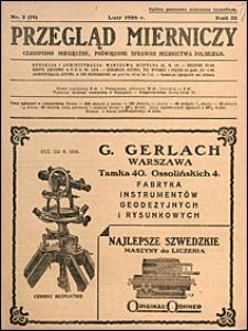 Przegląd Mierniczy 1926 nr 2