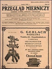 Przegląd Mierniczy 1926 nr 7