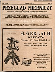Przegląd Mierniczy 1926 nr 11