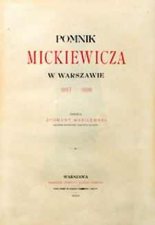 Pomnik Mickiewicza w Warszawie 1897-1898