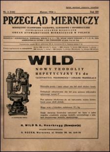 Przegląd Mierniczy 1936 nr 3