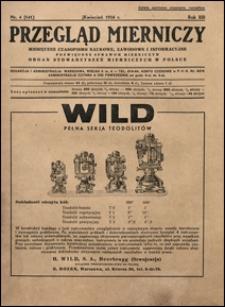 Przegląd Mierniczy 1936 nr 4
