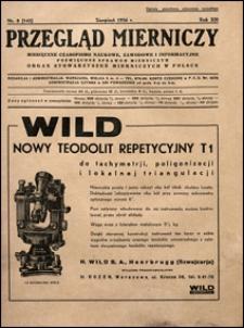 Przegląd Mierniczy 1936 nr 8