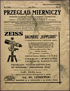 Przegląd Mierniczy 1938 nr 2