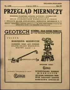 Przegląd Mierniczy 1939 nr 7