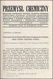 Przemysł Chemiczny 1928 nr 8