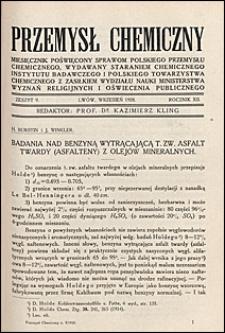 Przemysł Chemiczny 1928 nr 9