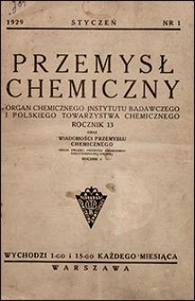 Przemysł Chemiczny 1929 nr 1