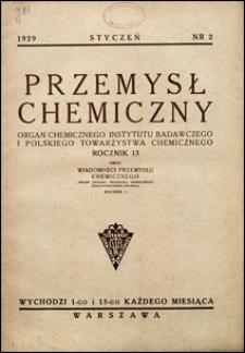 Przemysł Chemiczny 1929 nr 2