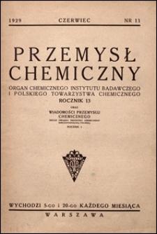Przemysł Chemiczny 1929 nr 11