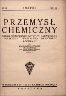 Przemysł Chemiczny 1929 nr 12