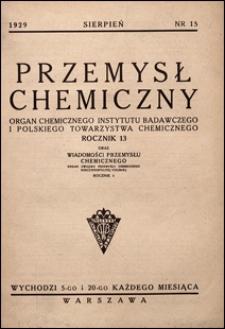 Przemysł Chemiczny 1929 nr 15