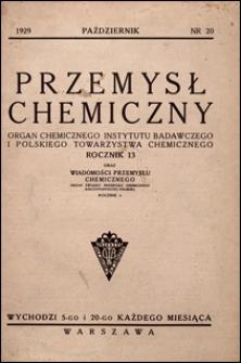 Przemysł Chemiczny 1929 nr 20