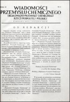 Wiadomości Przemysłu Chemicznego 1929 nr 1-24