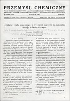 Przemysł Chemiczny 1930 nr 5