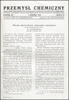Przemysł Chemiczny 1930 nr 11