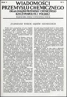 Wiadomości Przemysłu Chemicznego 1930 nr 1-24