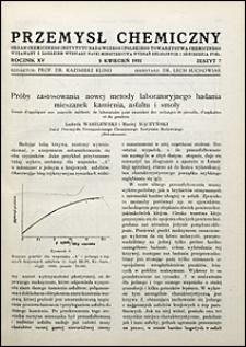 Przemysł Chemiczny 1931 nr 7