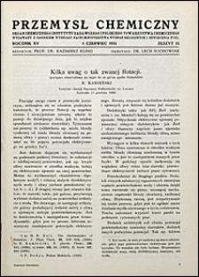 Przemysł Chemiczny 1931 nr 11