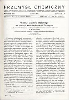 Przemysł Chemiczny 1932 nr 3-4
