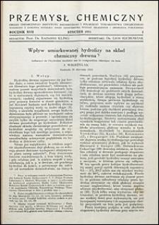 Przemysł Chemiczny 1933 nr 1