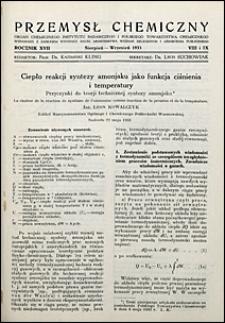 Przemysł Chemiczny 1933 nr 8-9