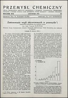 Przemysł Chemiczny 1933 nr 11
