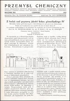 Przemysł Chemiczny 1932 nr VI