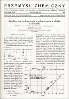 Przemysł Chemiczny 1932 nr XI