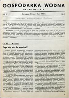 Gospodarka Wodna 1938 nr 1