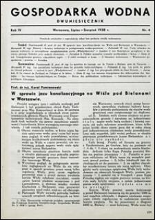 Gospodarka Wodna 1938 nr 4