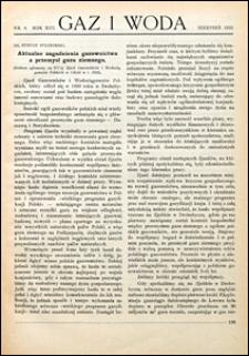 Gaz i Woda 1933 nr 8