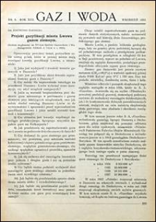 Gaz i Woda 1933 nr 9