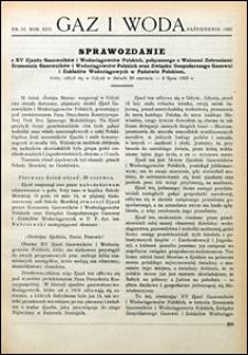 Gaz i Woda 1933 nr 10