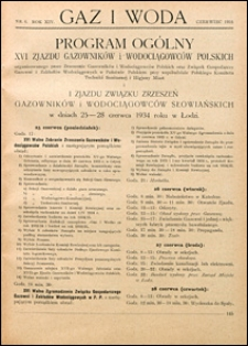 Gaz i Woda 1934 nr 6