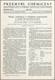 Przemysł Chemiczny 1934 nr 5