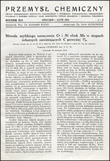 Przemysł Chemiczny 1935 nr 1-2
