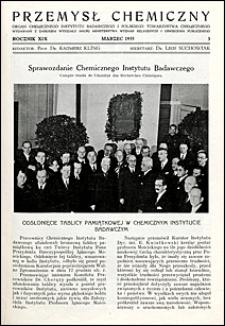 Przemysł Chemiczny 1935 nr 3