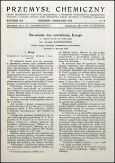 Przemysł Chemiczny 1936 nr 8-9