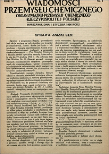 Wiadomości Przemysłu Chemicznego 1936 nr 1-24