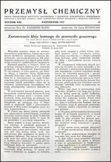 Przemysł Chemiczny 1937 nr 10