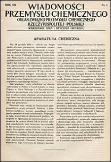 Wiadomości Przemysłu Chemicznego 1937 nr 1-24