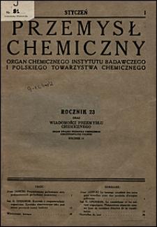Przemysł Chemiczny 1939 nr 1