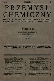 Przemysł Chemiczny 1939 nr 3