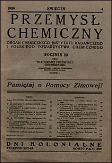 Przemysł Chemiczny 1939 nr 4