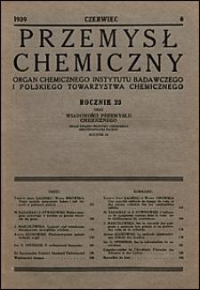 Przemysł Chemiczny 1939 nr 6